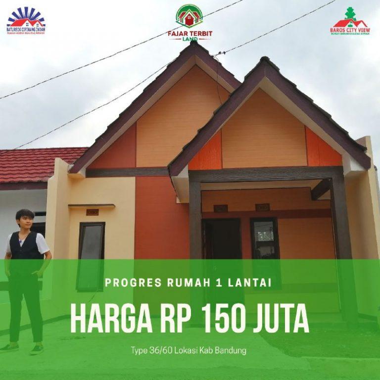 Baros City View Bandung 150 juta
