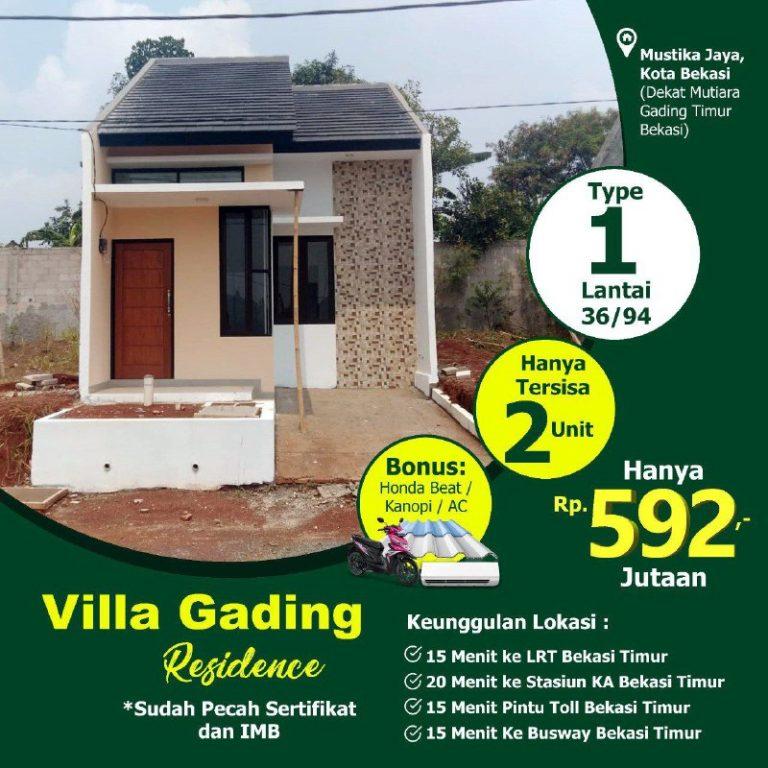 Villa Gading Residence Mustikajaya Bekasi 2